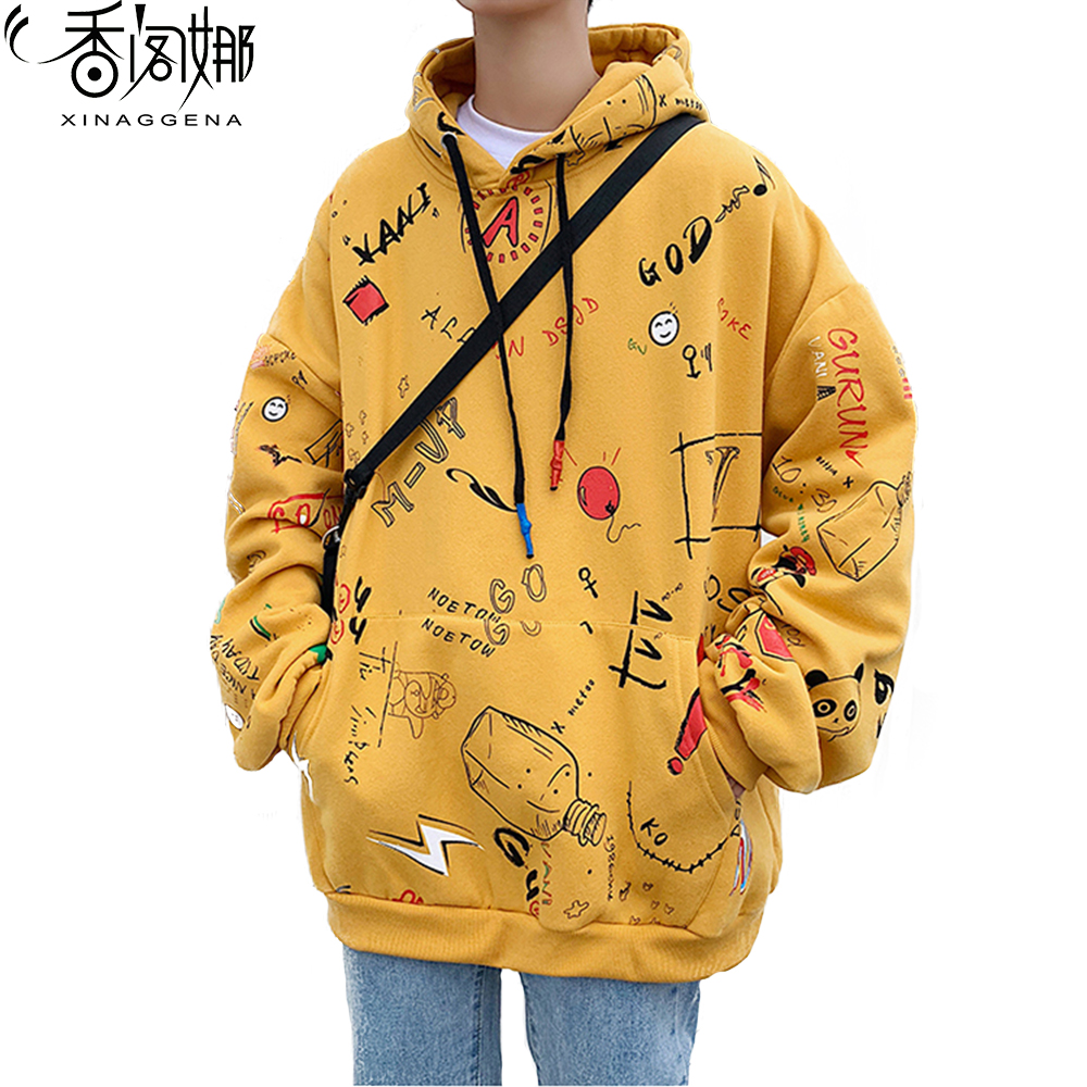Teens Fashion Man Sweatshirts Hoodies Casual Streetwear Preppy Personality Large Size Hoodie Print New Design Male Coats