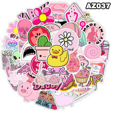 50Pcs Girls Kawaii Pink Fun Graffiti Stickers cool summer beach Decal Stickers On Car guitar Luggage