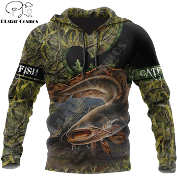 Catfish Fishing hoodie camo unisex