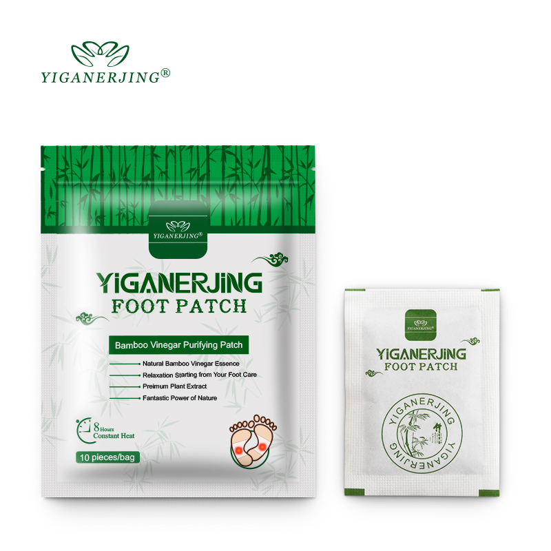YIGANERJING 10pcs/bag Detox Foot Patches Pads Body Toxins Feet Foot Patch Slimming Cleansing HerbalAdhesive