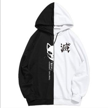 Summer Anime Demon Slayer Men's Sportswear Hoodie Tanjiro Print Printing Double Color Hoodies Sweatshirt Harajuku Thin Clothing 1