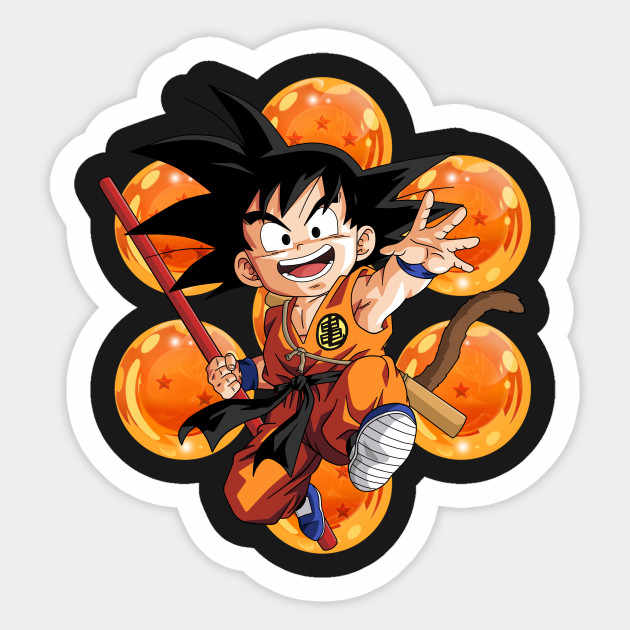 1PCS Kid Goku Dragonball Sticker Sticker For Notebook Trolley Case Backpack Table PVC Car DIY Cool Skateboard Decal