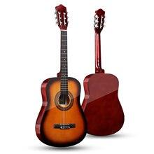 38 classic classic guitarra acústica clássica 38 polegadas 6 cordas guitarra acústica de madeira para alunos iniciantes (madeira)