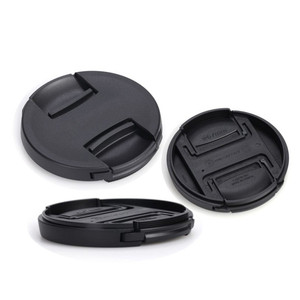 Image 5 - 10 Stks/partij Hoge Kwaliteit 49 52 55 58 62 67 72 77 82Mm Center Pinch Snap On cap Cover Voor Canon Camera Lens