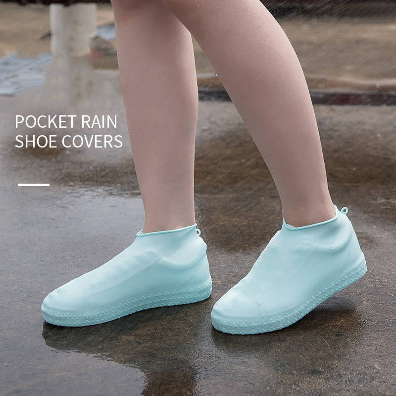 Waterproof Shoe Covers Dust Covers Cycling Rain Reusable Overshoes Silicone Latex Elastic Shoe Covers Protect Shoes Accessories