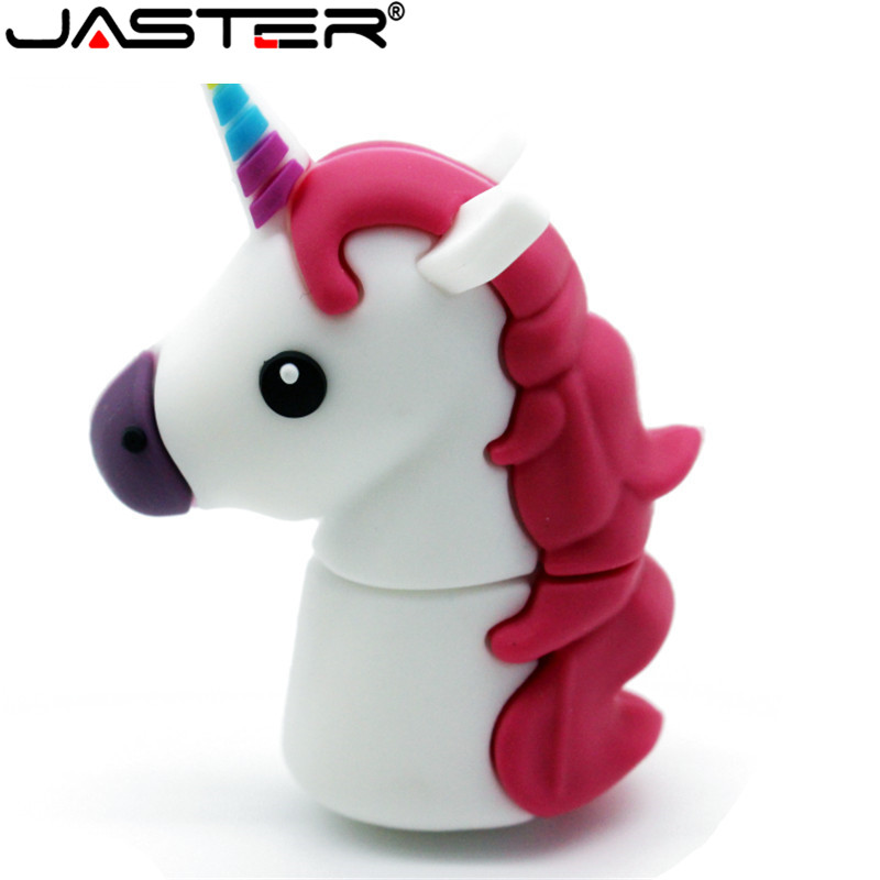 JASTER New Unicorn Despicable Me 2 USB Flash Drive 100% Genuine Cartoon Memory Stick Pendrive 4GB 16GB 32GB 64GB Pen Drive Toy