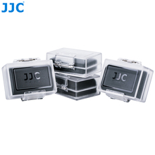 JJC 4 Pack Acqua resistente Batterie per Foto/Videocamera caso Per Canon LP E6N LP E8 LP E12 LP E17 per Nikon EN EL15 EN EL14A per sony NP FZ100
