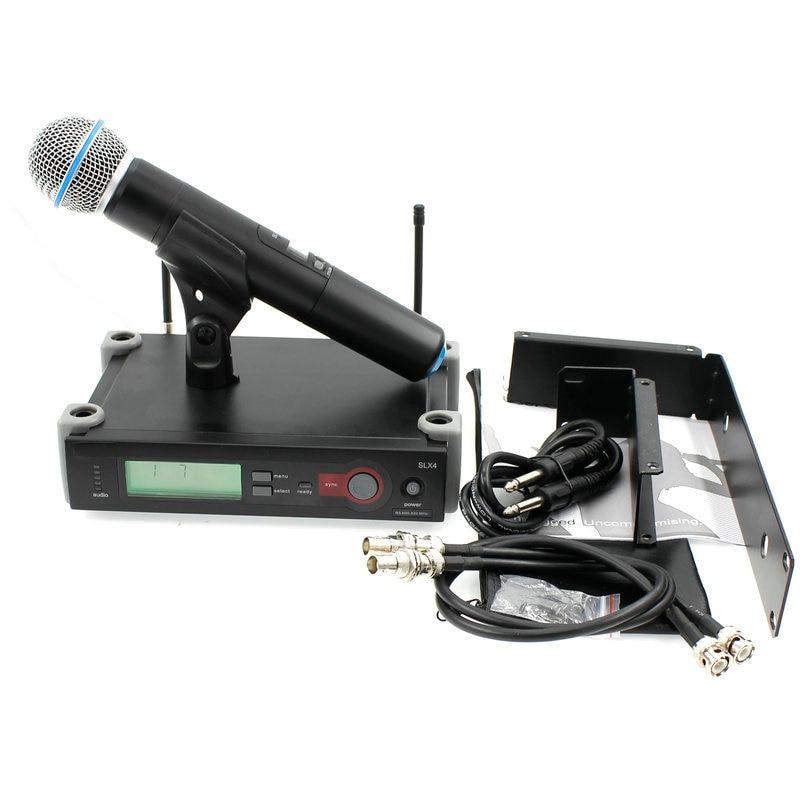 SLX24 système de Microphone sans fil karaoké UHF avec transmetteur micro support de montage Kits de support