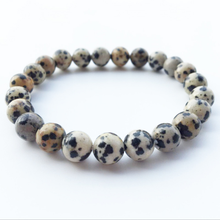 Mala Fashion Bracelets Buddhist Jewelry Healing Natural Stone Powder Beads Spiritual Energy Bracelet Lava Spot Accessories