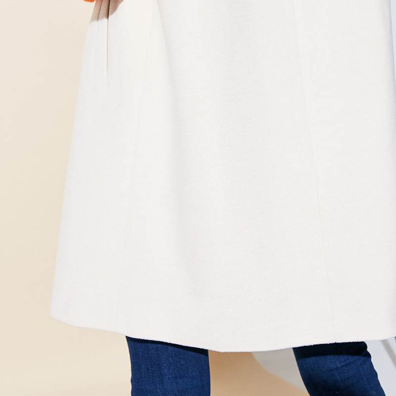 Vero Moda Women's New Stitching Color Matching Detachable Fur Collar Coat  318409504 17