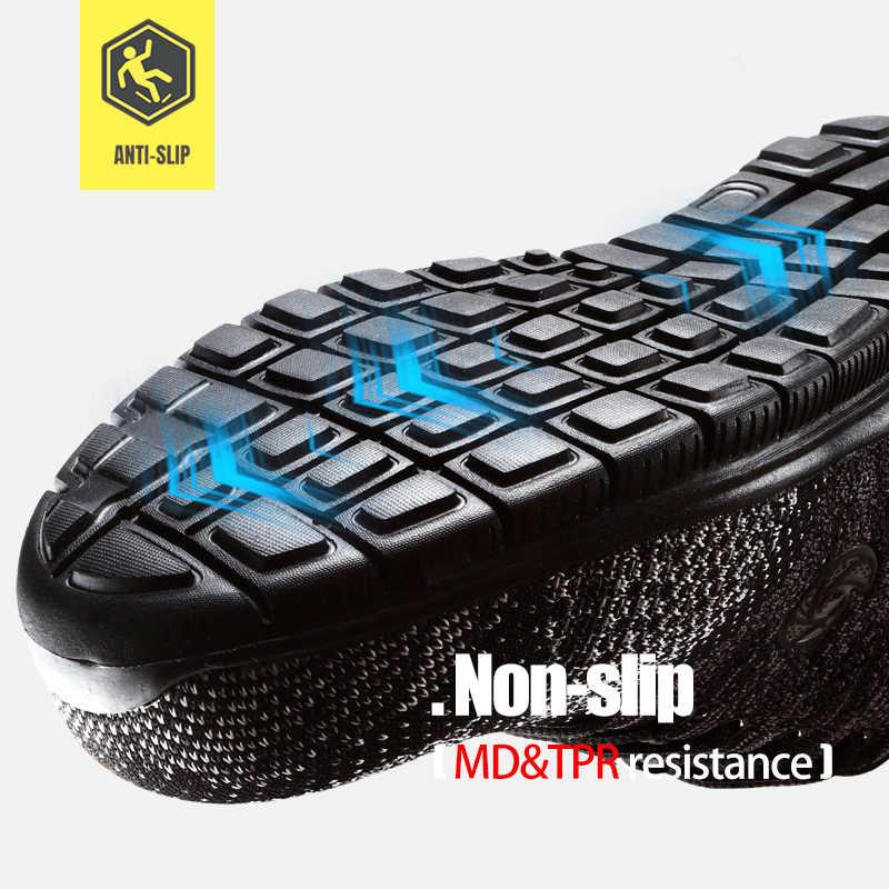 MODYF/защитная обувь; дышащая защитная обувь; мужская легкая обувь со стальным носком; обувь для пирсинга и работы; сетчатые кроссовки