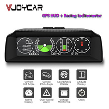Nieuwe Gps Speed Pmh Kmh Helling Meter Inclinometer Auto Kompas Automotive Hud Pitch Tilt Hoek Gradenboog Klok Latitude Longitude