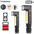 10000LM LED Zaklamp Ultra Heldere Waterdichte COB Licht USB Oplaadbare zaklamp staart magneet Werk Licht 90 Graden Draaien