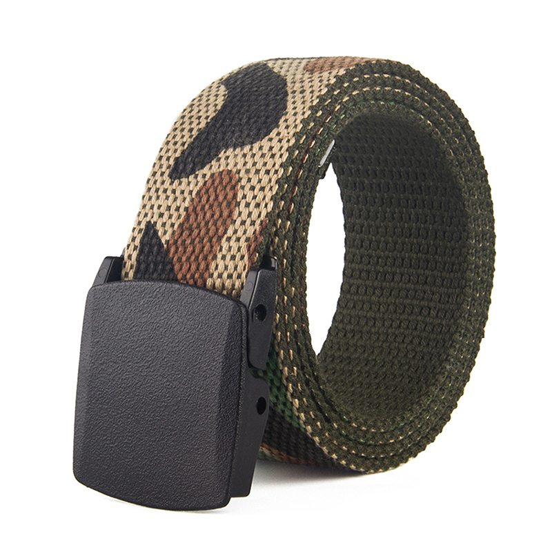 New Men Women Camouflage Canvas Belt Casual Printed Graffiti Waist Belts Couple Camo Tactical Jeans Buckle Straps Belt Unisex