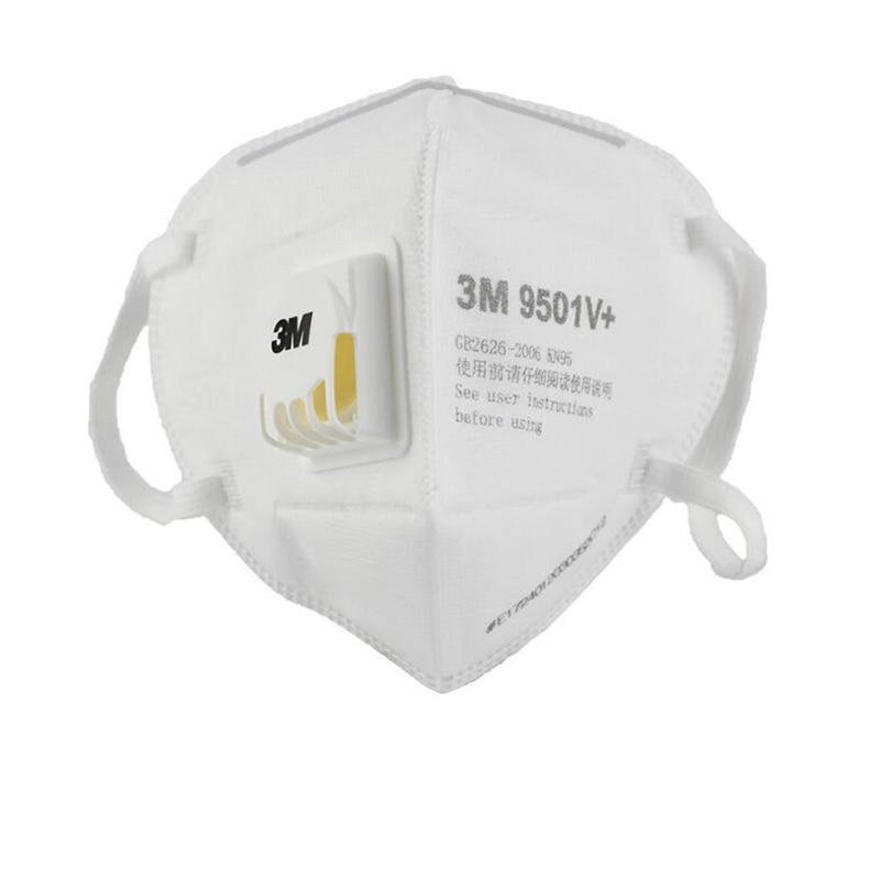 5Pcs 3M 9501V+ KN95 Particulate Respirator Protective Masks Safety Mask with Valve PM2.5 Haze Fog Dustproof Mouth Mask Outdoor 1