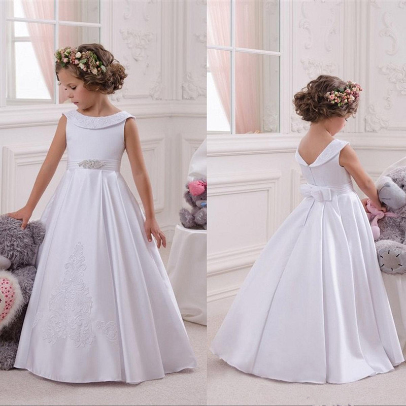 Flower Girl Dresses For Wedding Elegant First Holy Communion Pageant Dress For Girls Graduation Dress Gown Govestido De Daminha
