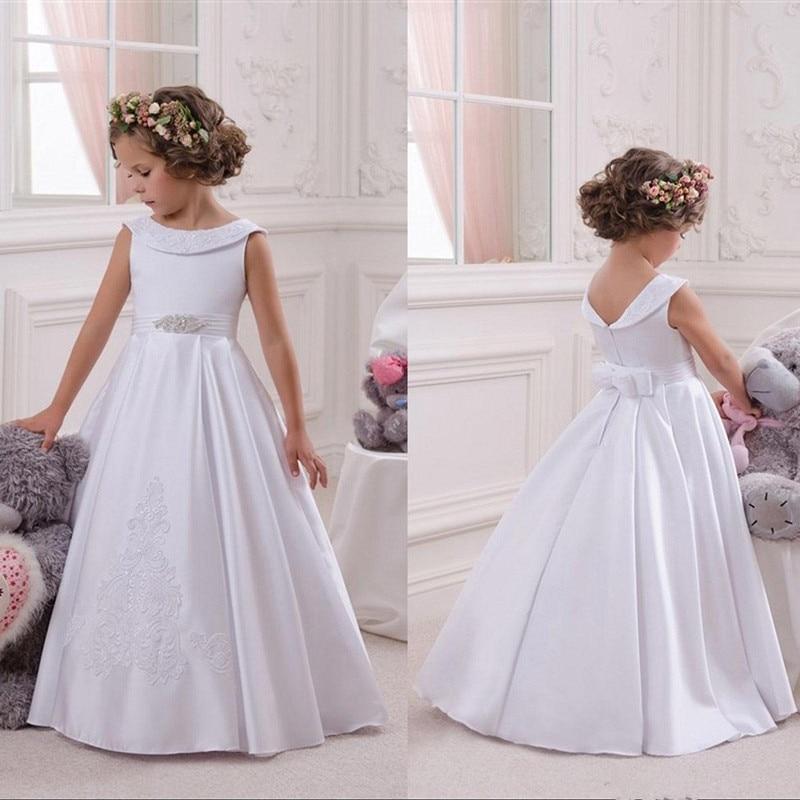 Flower Girl Dresses For Wedding Elegant First Holy Communion Pageant Dress For Girls Graduation Dress Gown Govestido De Daminha