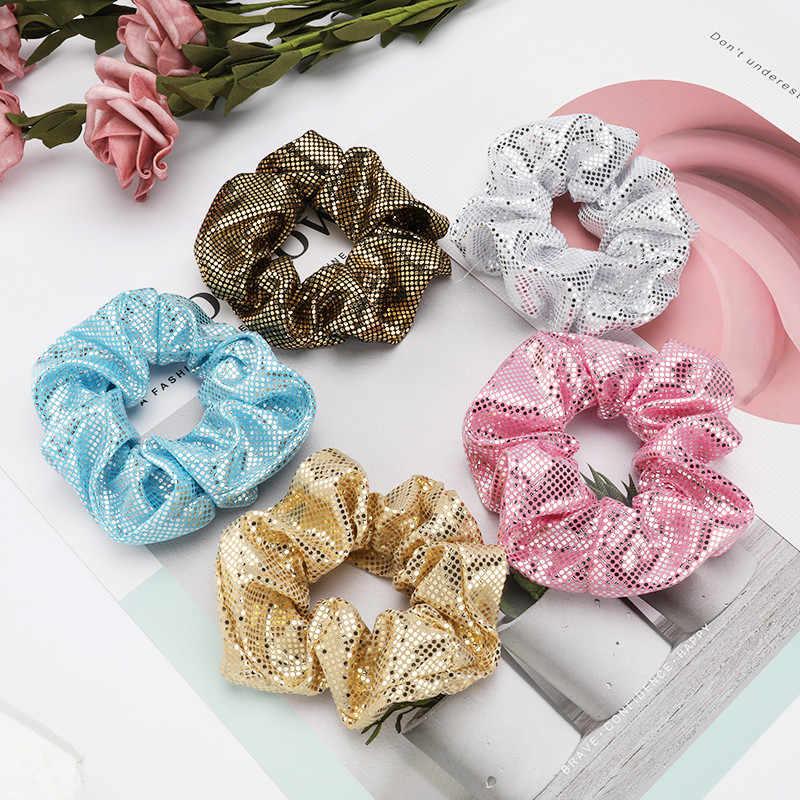 Pauli manfi 2020 pop retro anéis de cabelo para as mulheres cor sólida esportes corda de cabelo elástico rabo de cavalo acessórios de cabelo