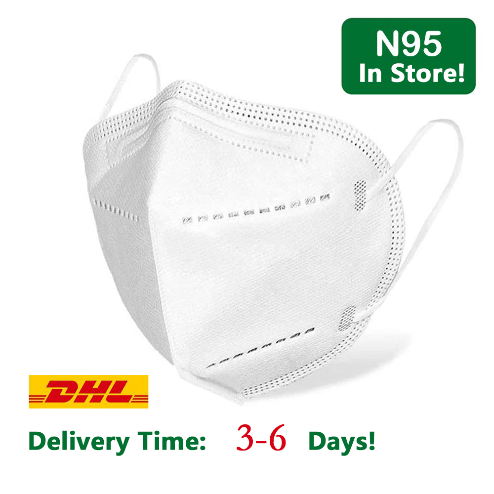 N95 Face Mask 20 50pcs 95% Filtration Gas Pollution 4 Ply Safety Pm2.5 Protective Anti Dust Respirator Disposable KN95 Masks