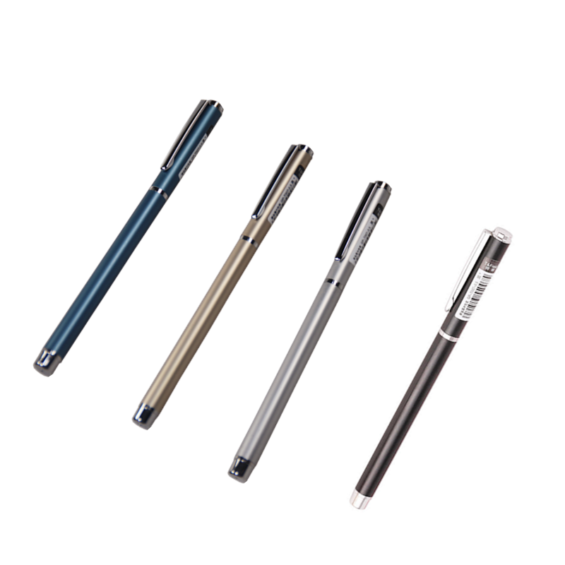 Pole-Gel-Pen Metal-Shell Office-Gift Business Aluminum Signature-Pen High-End YMZ