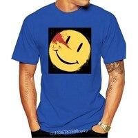Camisetas de cara sonriente para hombres, Parody Watchmen, serie televisiva de TV, Camisa de algodón con 100% de sonrisa ensanchada, cuello redondo, novedad