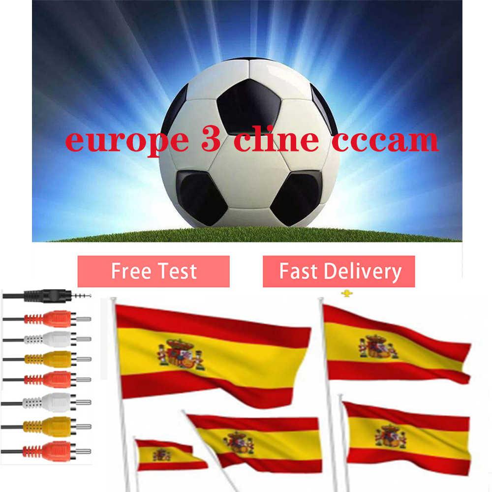 ที่ดีที่สุด Stable Satellite Cccam 3 Cline สเปนโปแลนด์โปรตุเกส Receptor ยุโรป Cccam เยอรมนีถอดรหัสยุโรปแผง Gtmedia V8 nova V9