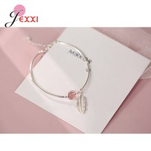 New 2020 Arrivals European and American 925 Sterling Silver Personality Fashion Bracelets Cubic Zirconia Bangles For Women(China)