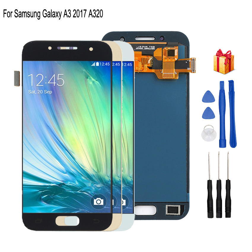 Original For SAMSUNG Galaxy A3 2017 <font><b>A320</b></font> LCD Display Touch Screen Digitizer Replacement For Samsung A320F SM-A320F Screen LCD image
