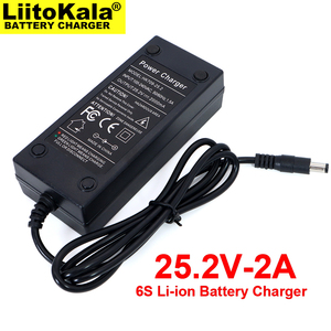 Image 4 - 도매 2PCS Liitokala 25.2V 2A 6 시리즈 18650 4.2V * 6S 리튬 배터리 충전기 25.2V 정전류 2A 전류 DC 5.5*2.1MM