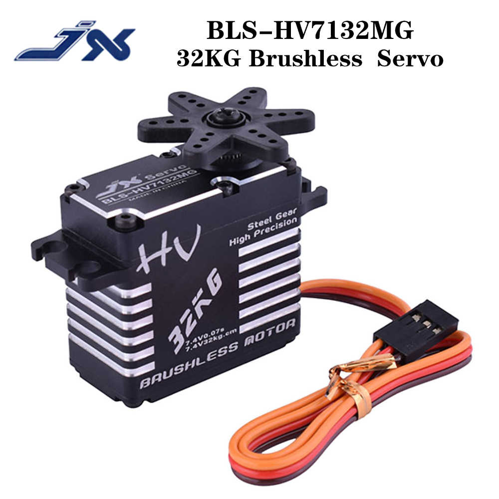 JX Servo BLS-HV7132MG 32KG 7.4V 0.07sec High Speed Precision Steel Gear CNC Digital Brushless for for RC Car Robot Airplane Drone