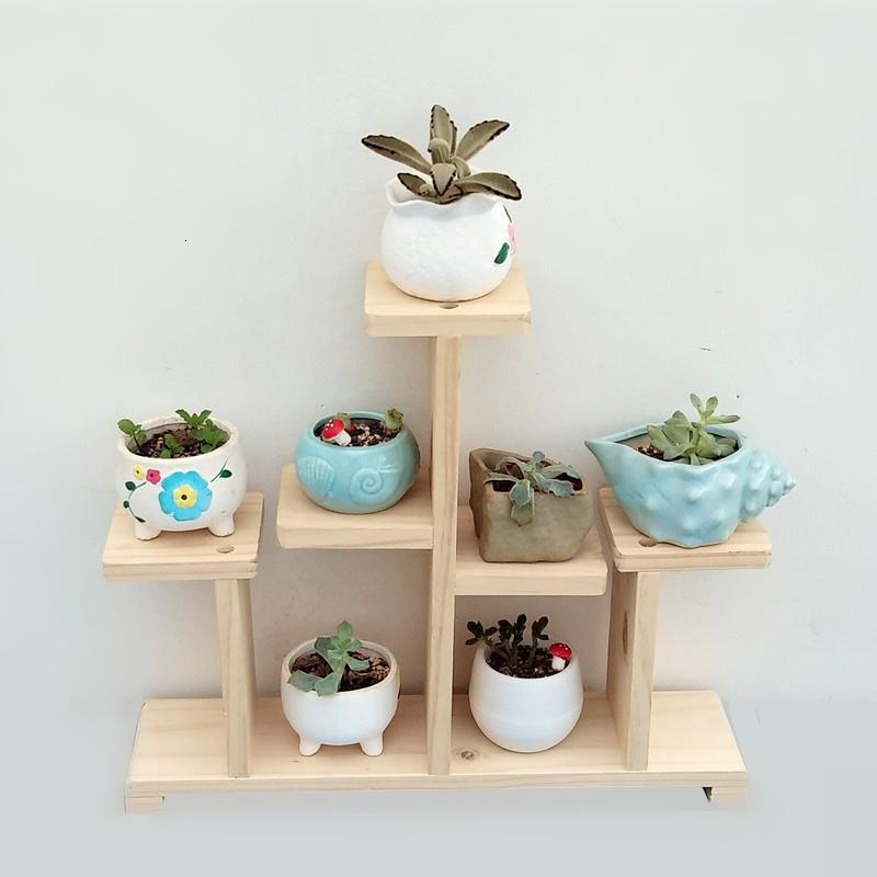 Madera Estante Stojaki Na Kwiaty Estanteria Para Plantas Ladder Plant Rack Outdoor Dekoration Balcony Shelf Flower Stand