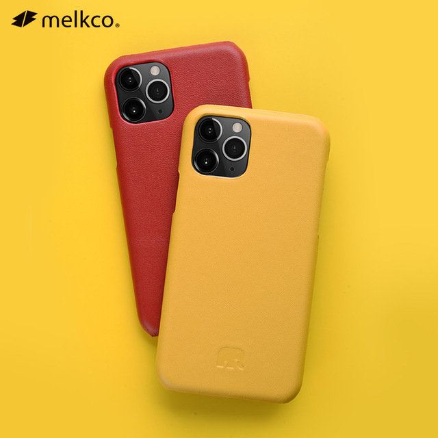 2020 New 12 Color Genuine Leather Back Cover For iPhone 11 Pro Max 5.8 6.1 6.5 Cow Skin Phone Case Fashion Yellow Dark Green