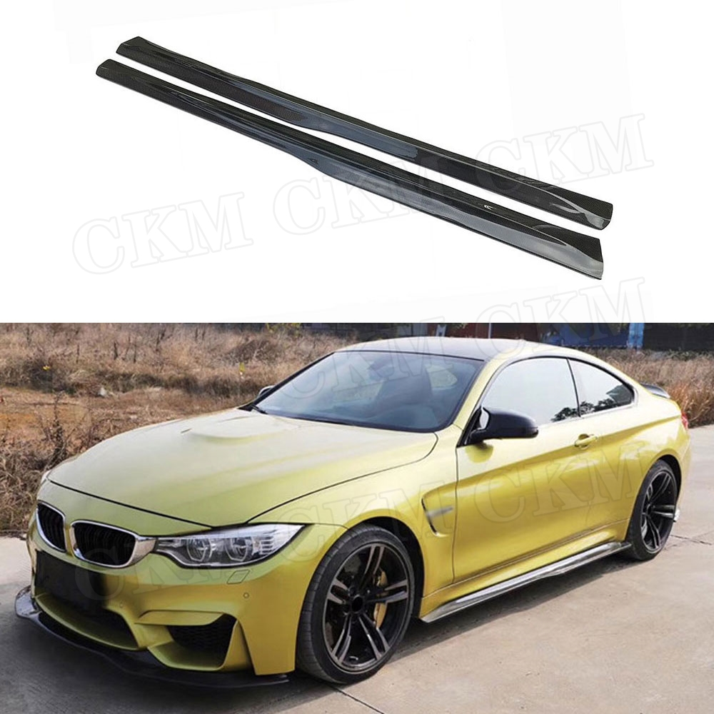 Carbon Fiber Side Skirts Apron for BMW 3 Series F80 M3 4 Series F82 F83 M4 2012-2018 FRP Door Bumper Cover Car Styling image