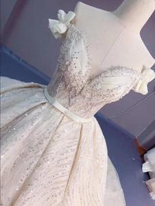 Image 4 - Robe de mariée luxueuse, à paillettes, robe de mariée princesse ligne A, taille/couleur, modèle 2020