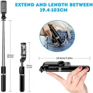 Image 4 - 4 In 1 Draadloze Bluetooth Selfie Stok Met Statief Lichtmetalen Self Selfiestick Smartphone Selfie Stick 3 Telefoon Voor Iphone camera