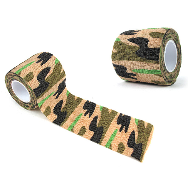 Self-adhesive Non-woven Camouflage WRAP RIFLE GUN Hunting Camo Stealth Tape YRDE