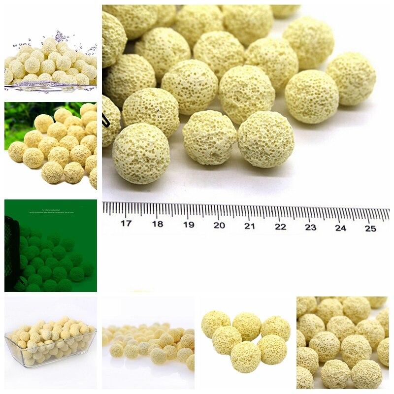 Nowy kule Bio 10PcsAquarium ceramika poryzowana wkład filtracyjny torba z siateczką biologicznych piłka akwarium akcesoria do akwarium