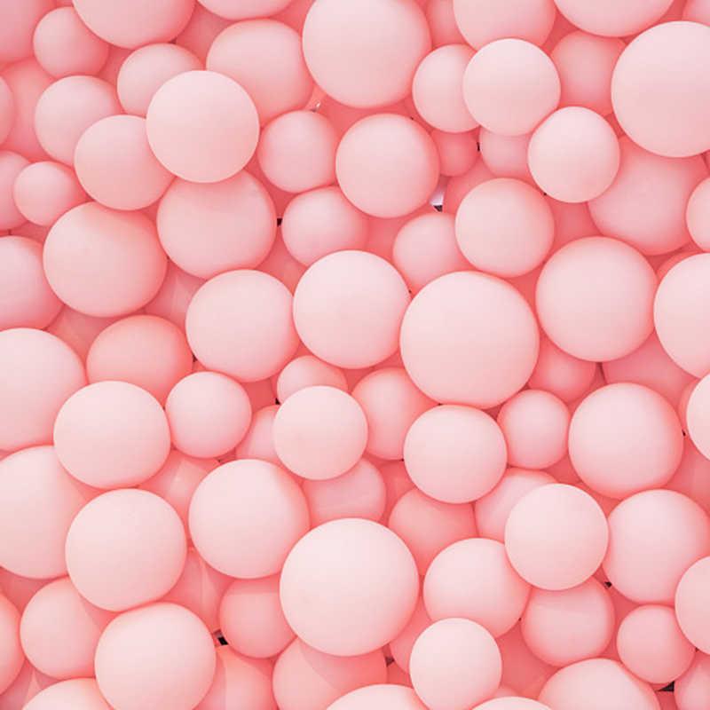 "5 ""10"" 12 ""18"" 36 ""Matte บริสุทธิ์บอลลูนสีชมพูสีชมพู Art รูปร่างงานแต่งงานวันเกิดตกแต่งโรแมนติกบอลลูน"