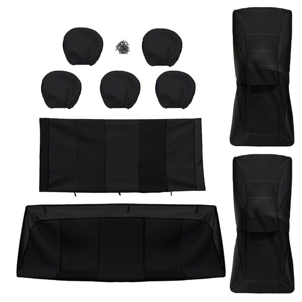 Car Seat Covers Protectors Universal Washable Dog Pet Full Set Compatible Airbags 100% Polyester Material Front Rear
