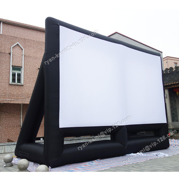 Free To Door Shipping Giant 8mx6m Inflatable Movie Screen 16:9 Projection Screen Large Outdoor Portable Film Play Screen