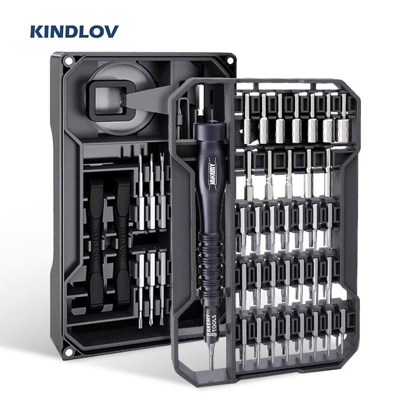 KINDLOV مفك مجموعة المغناطيسي مفك مسامير بت الدقة توركس فيليبس عرافة بت 73 في 1 أدوات إصلاح الهاتف أداة اليدمفك براغي   -