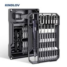 KINDLOV مفك مجموعة المغناطيسي مفك مسامير بت الدقة توركس فيليبس عرافة بت 73 في 1 أدوات إصلاح الهاتف أداة اليد