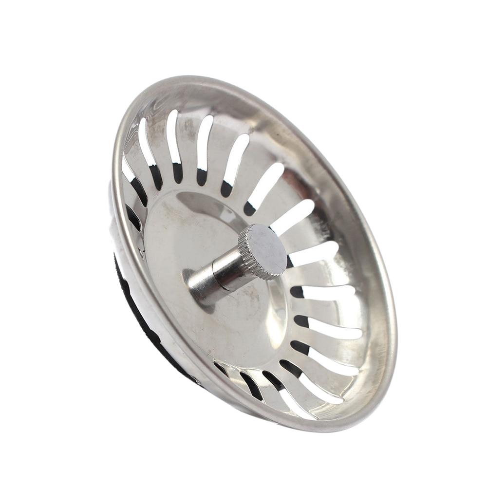 1pc Stainless Steel Kitchen Sink Filter Waste Plug Sink Bathroom Sink Sink Drainer Sink Accessories