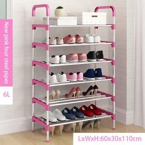 Металлическая стойка для обуви «сделай сам», компактный органайзер для обуви, шкаф для хранения мебели для гостиной