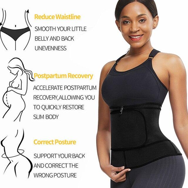 Feelingirl Neoprene  Waist Trainer Body Shaper Modeling Strap Sauna Shaper Butt Lifter Fitness Corset Sweat Slimming Belt 1