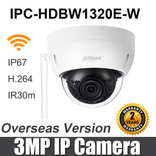 Dahua 3MP WiFi IP กล้อง IPC HDBW1320E W Mini IR โดม IP67 IK10 ช่องเสียบการ์ด SD เปลี่ยน IPC HDBW1320E Wireless Security กล้อง