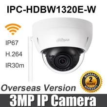 Dahua 3MP WiFi IP Kamera IPC HDBW1320E W Mini IR Dome IP67 IK10 SD Karte slot ersetzen IPC HDBW1320E Wireless Security kamera