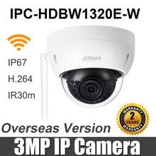Dahua 3mp wifi câmera ip IPC HDBW1320E W mini ir dome ip67 ik10 slot para cartão sd substituir IPC HDBW1320E câmera de segurança sem fio