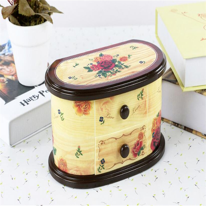 Pink Beautiful Ballet Dancer Doll Music Box Jewelry Organizer Make Up Box Portable Musical For Kids
