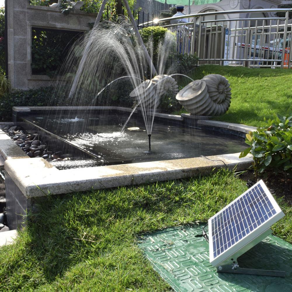 10W 1350L/H pompe de fontaine solaire poisson jardin eau piscine étang pompe décoration de jardin panneau solaire alimenté fontaine pompe à eau